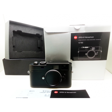 leica m monochrom digital camera ccd (black) used 10760