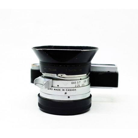 Leica Summilux 35mm/f1.4 Steel Rim +Hood + Filter