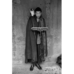楊延康 (Yang Yankang)作品 - 20心像之讀經的僧人與貓2012