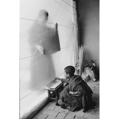 楊延康 (Yang Yankang)作品 - 心像之飛鳥與打鑼的僧人