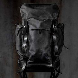 Wotancraft Shadow Warrior Travel Backpack(Charcoal Black)