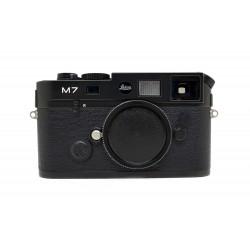 Leica M7 TTL .58 Rangefinder Film Camera (Black) MP viewfinder Black logo