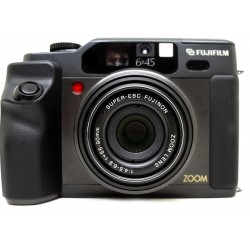 Fujifilm GA645 Camera (Black) with built-in 55-90mm Zoom Lens