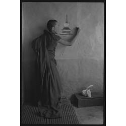 楊延康 (Yang Yankang)作品 -佛塔与僧人 西藏2012