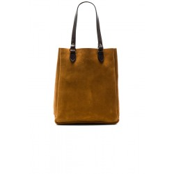 Rugged suede tote