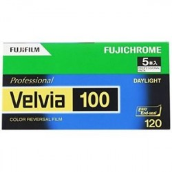 Fujifilm Professional Velvia 100 Color Reversal Film 120
