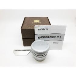 Minolta G-Rokka 28mm f/3.5 LTM