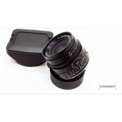 leica elmarit m 28/2.8 v4 pre-asph blk+hood with cover