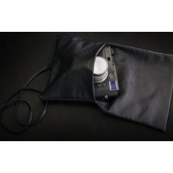 Soft Napa Leather Pouch (Black)