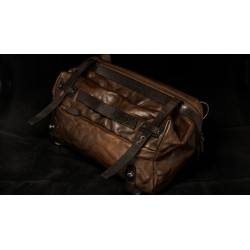 Wotancraft NIGHT RIDER LEATHER SLING BAG (brown, full leather)