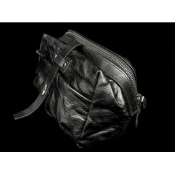 Wotancraft MINI RIDER SLING BAG (Black, full leather)