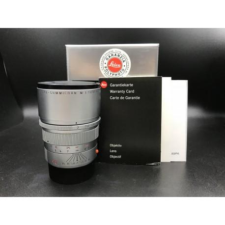 Leica Apo-Summicron-M 90mm F/2 Asph Silver Chrome Finish (11885)
