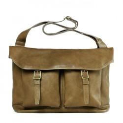 Tsuchiya Kaban 土屋鞄製造所 Vehicle Half Flap Shoulder Leather Bag