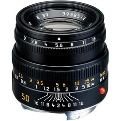 Leica Summicron-M 50mm f/2 Black 6 bit (Brand New)