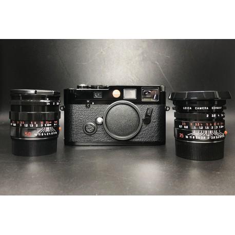 Leica M6 TTL 0.72Film Camera With 35mm F/2 Asph Lens & 50mm F/1.4 Lens Black Paint Millenium Set