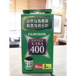 Fujicolor Superia X -TRA 400 135-36 Film (Three Roll)