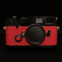 Black Paint Leica MP 0.72 Film Camera (red leather skin)