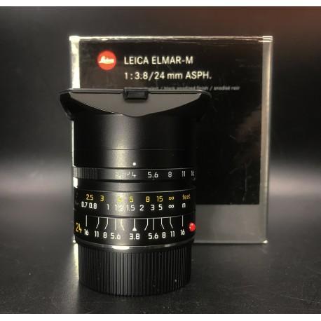 Leica Elmar-M 24mm F/3.8 Asph Black Anodized Finish 11648