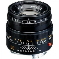 Leica Summicron-M 50mm f/2 Black 6 bit (Brand New)