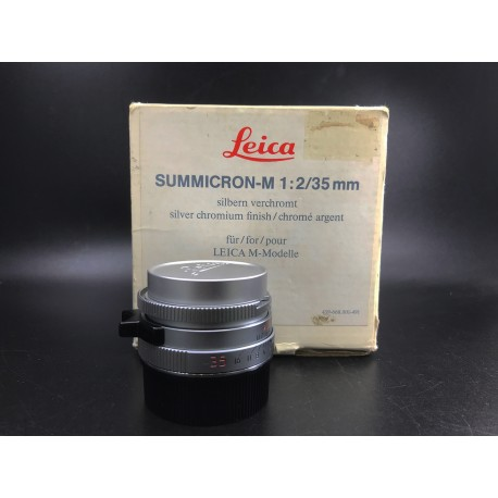 Leica Summicron -M 35mm F/2 7 Element Silver