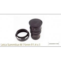 leica summilux 75/1.4 v.1 +hood