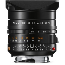 Leica Summilux-M 28mm f/1.4 ASPH. Lens (Black) 11668
