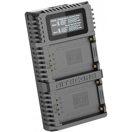 NITECORE FX2 PRO Dual-Slot USB Camera Battery QC Charger For Fujifilm (GFX 50S/GFX 50R)
