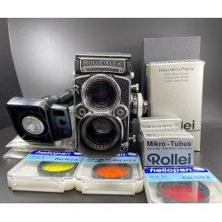 Rolleiflex 2.8F Film Camera with Accessories