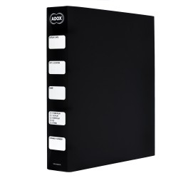 ADOX Adofile Archival Ring Binder,Black Plastic With Ring Closure