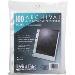 printfile 8 x 10 neg sleeve negative sleeve 100 pack