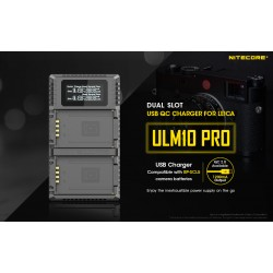 Nitecore ULM10 PRO CHARGER FOR LEICA M10