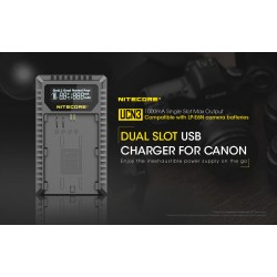 Nitecore UCN3 USB Charger For Canon