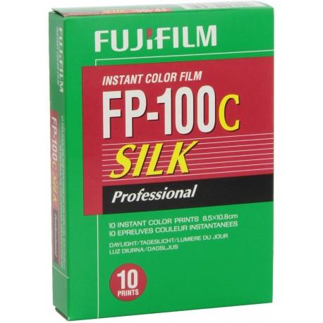 Fujifilm FP-100C Silk Professional Instant Color Film ISO 100 (10 Exposure, Glossy)