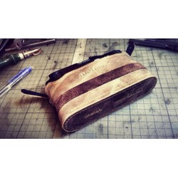 Leather case & strap (Handmade in Hong Kong)