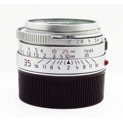 Silver Leica Summicron-M 35mm f/2 v.4 pre-asph