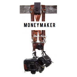 MONEY MAKER - LUXURY LEATHER MULTI CAMERA STRAP