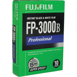 Fujifilm FP-3000B Professional Instant Black & White Film (10 Exposures)