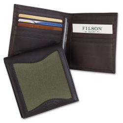 Leather and Twill Packer Wallet 65209